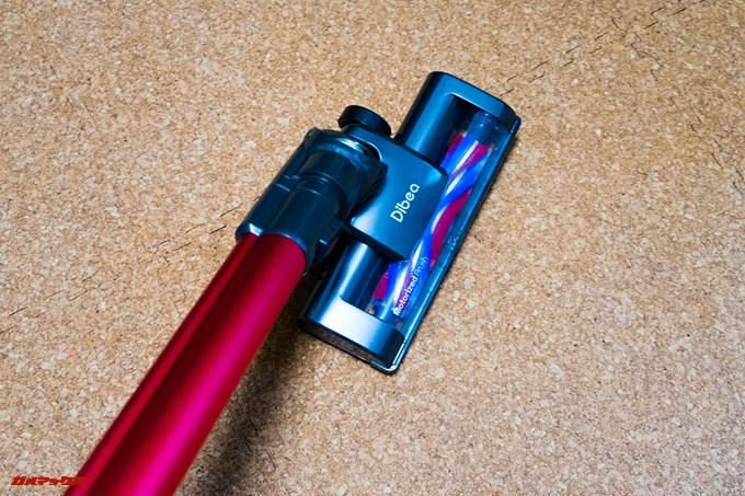 Dibea 2-in-1 Wireless Vacuum Cleaneは横方向にも大きく曲がります。パイプと垂直位に曲がります。