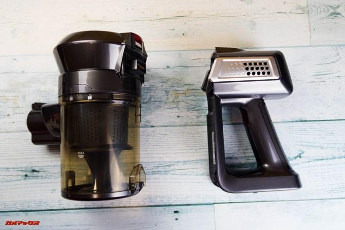 Dibea 2-in-1 Wireless Vacuum Cleaneの本体はバラバラに分解できます。