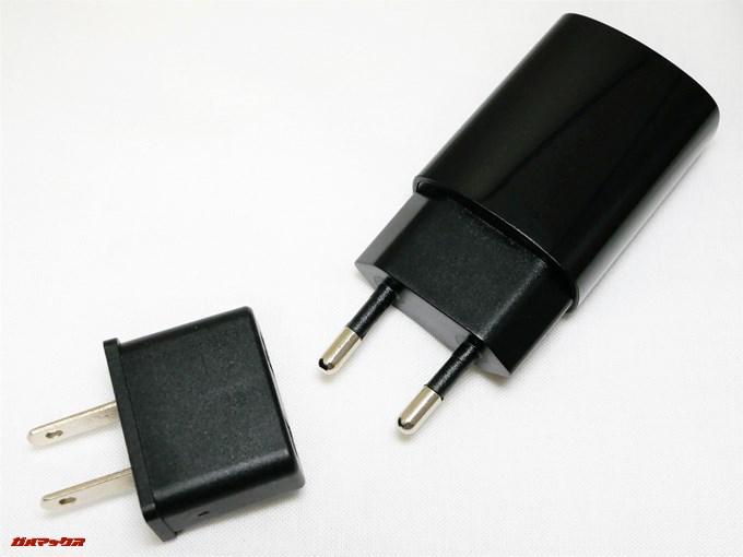 UHANS i8には変換アダプターが付属しています。