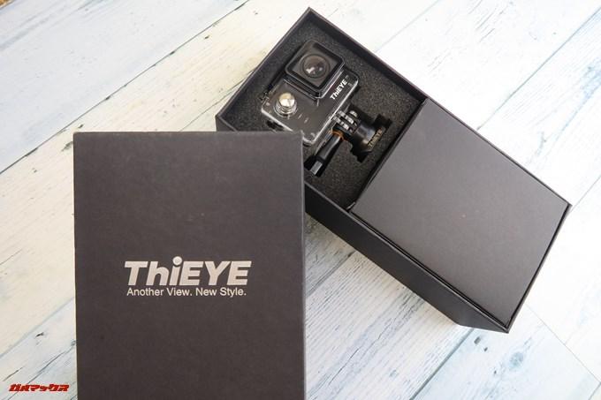 Thieye E7はスポンジでガッチリ保護されている状態で届くので海外ネットショップでの注文でも破損から守ってくれます。