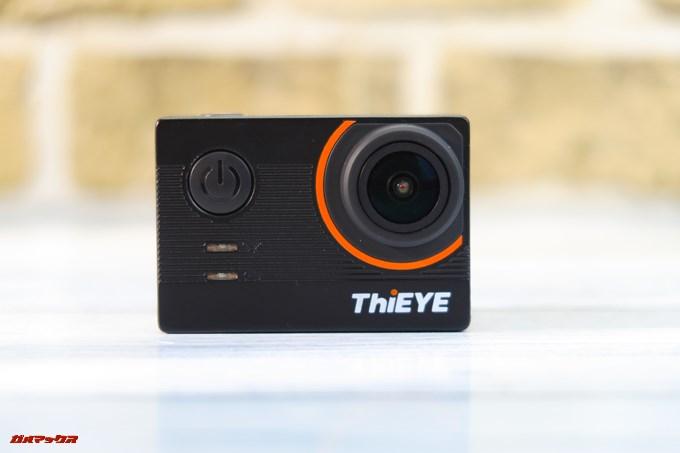 Thieye E7の本体正面にはインジケータと電源ボタンが備わっています。