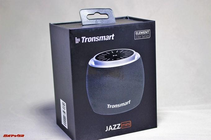Tronsmart Jazzの外箱は本体写真がプリントされている専用の化粧箱です。