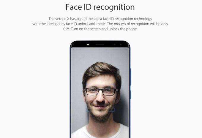 Vernee Xは顔認証を利用できるので画面に顔を向けるだけでロック解除が可能です。
