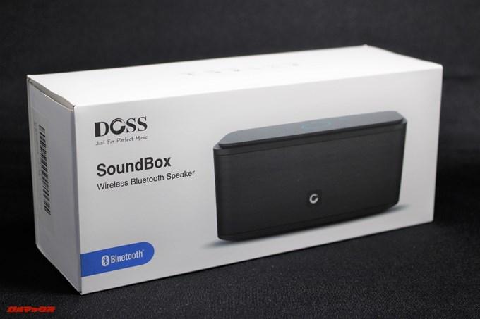 DOSS SoundBoxの外箱は基本英語です