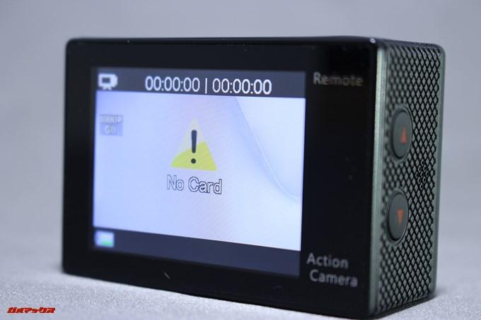 EKEN H9sには2型のディスプレイが備わっているので映像のチェックも簡単です。