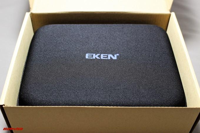 EKEN H9sは持ち運びが簡単な専用のハードポーチが付属しています。