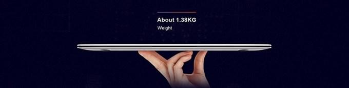 Teclast F6 Pro Notebookは1.3kg台の重量