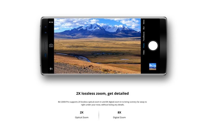 DOOGEE BL12000 Proのメインカメラは光学の2倍ズームレンズを搭載しています。