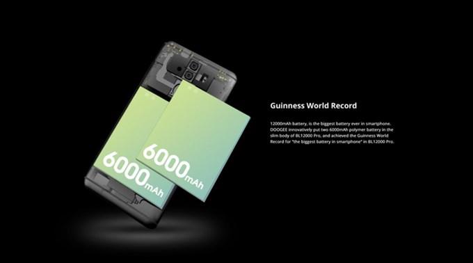 DOOGEE BL12000 Proは超大容量な12000mAhのバッテリーを搭載しています。