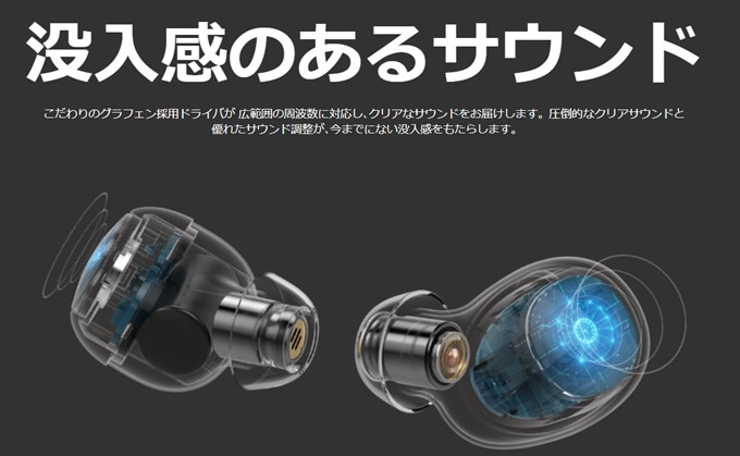 Zolo Liberty+は6mmの大口径を採用している