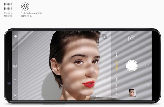 OPPO R11sはインカメラにAIニューラルネットワークアルゴリズムを組み込んで学習する事により最も美しいとされる自撮りが可能です