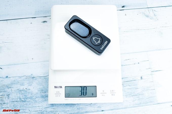 YATAIDI ワイヤレス チャイムの重量はたったの30gで軽量です。