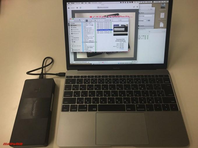 Tronsmart Brio 20100mAhはMacBook 12インチもUSB Cで充電が可能です