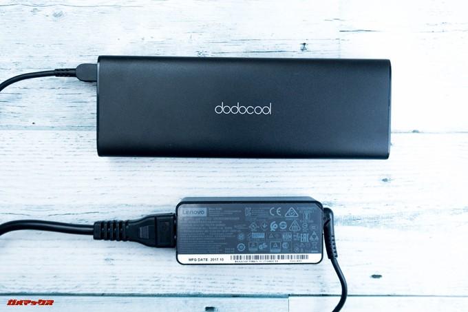 dodocool DP13自体の充電は出力の大きなノートパソコンの充電器を利用しましょう