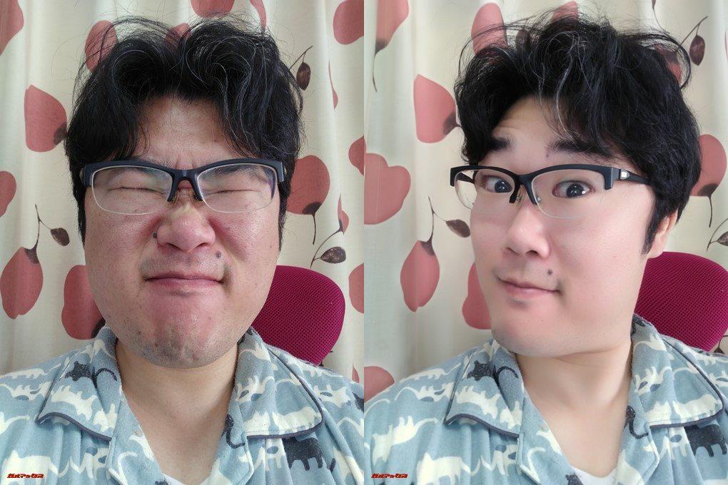 FREETEL REI 2 Dualの美顔モードは角度によっては顔が伸びます