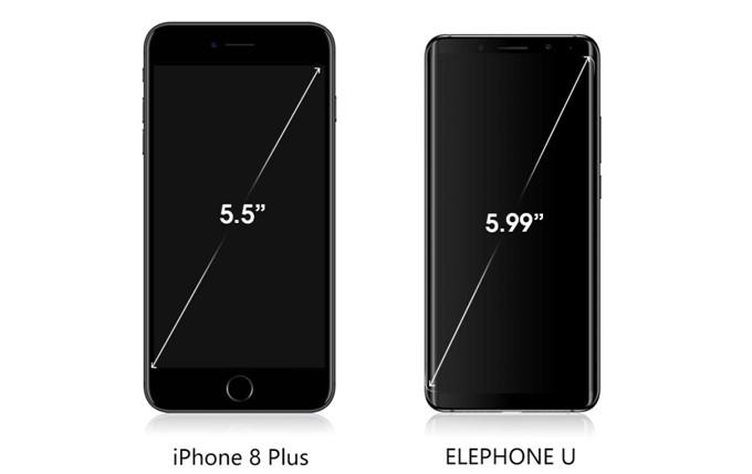 Elephone UとElephone U Proは18:9ディスプレイを採用しているのでコンパクトですが16:9と比較して大画面で多くの情報量を表示出来ます。