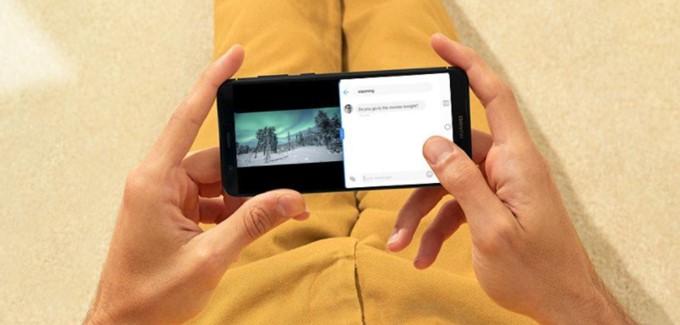 HUAWEI nova lite 2は縦長ディスプレイを搭載しているのでマルチ画面操作が快適です。