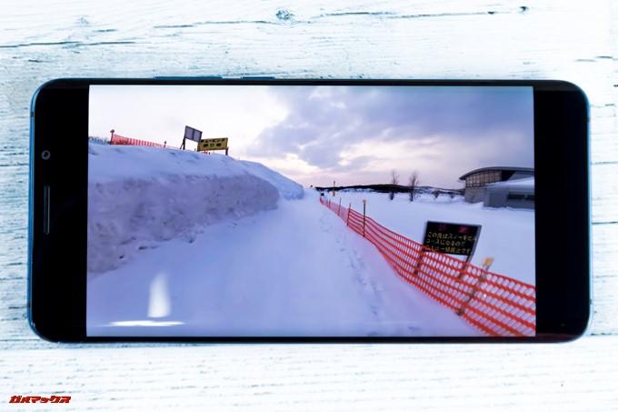 Elephone U Proは16:9の動画を再生する時、左右に黒帯が出てきました