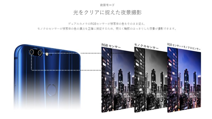 FREETEL REI 2 Dualはモノクロセンサーを組み合わせることで美しいディテールの写真を簡単に撮影することが可能です