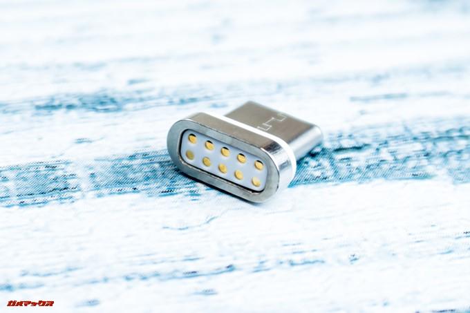 JMGO M6 Portable DLP Projectorに付属している端子側も磁石が内蔵されてます