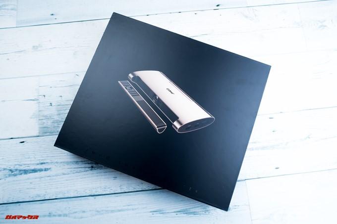 JMGO M6 Portable DLP Projectorの化粧箱は非常に美しい高級感の高いものでした