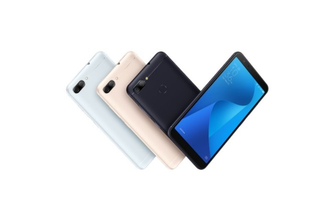 ZenFone Max Plus (M1)はディープシーブラック、アズールシルバー、サンライトゴールドの三色から選択可能です