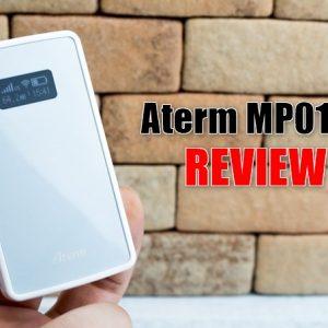 【名刺サイズ】Aterm MP01LNの実機レビュー!超小型なLTEモバイルルータ!