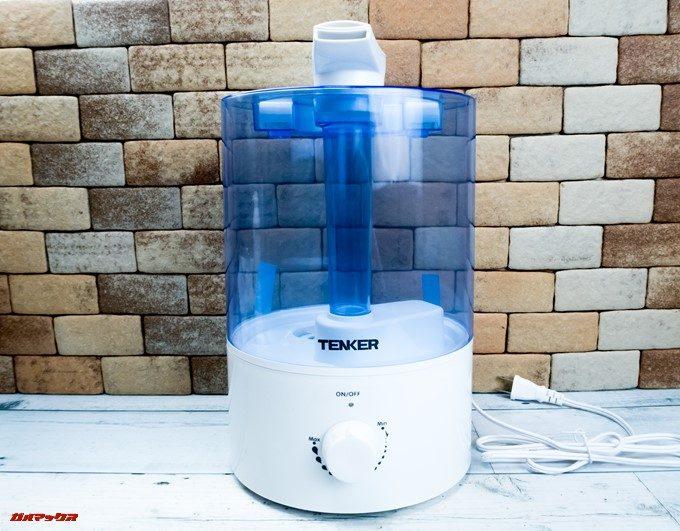TENKERの加湿器は機能面を優先しているので非常にシンプルなデザインです