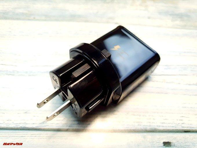 変換アダプターを利用すると急速充電の恩恵が得られる状態で利用できます。おすすめ!