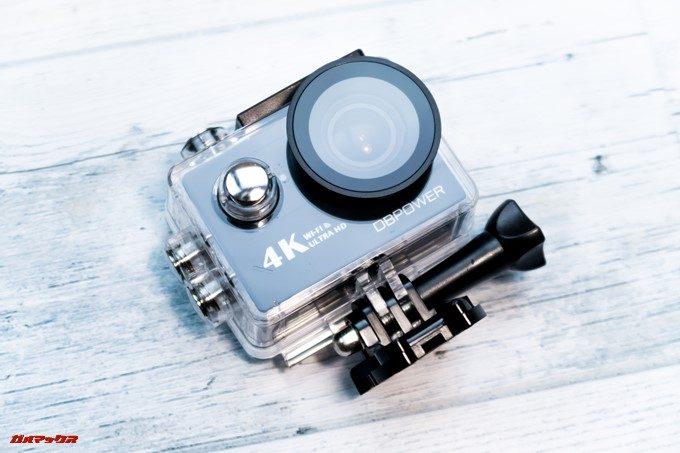 DBPOWER 4K 620Cは防水ケースが付属しています。