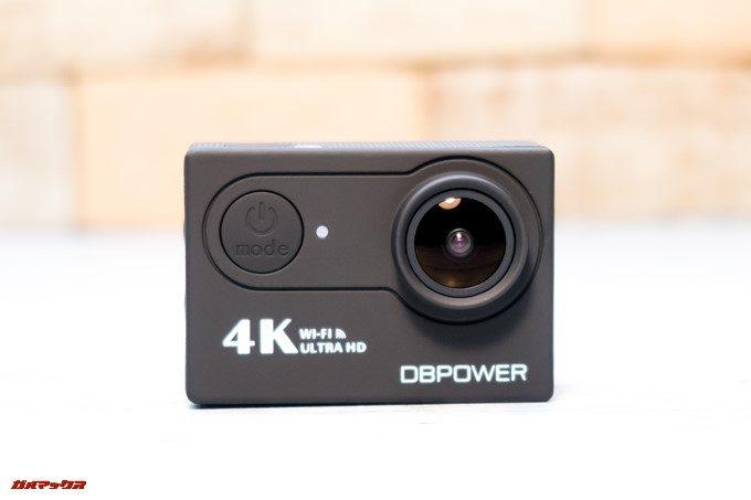 DBPOWER 4K 620Cのフロントは電源ボタンが備わっています。