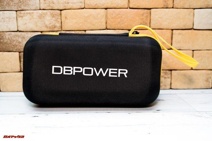 DBPOWER 4K 620Cには持ち運び用のポーチが付属しており持ち手がついているので持ち運びやすいです。