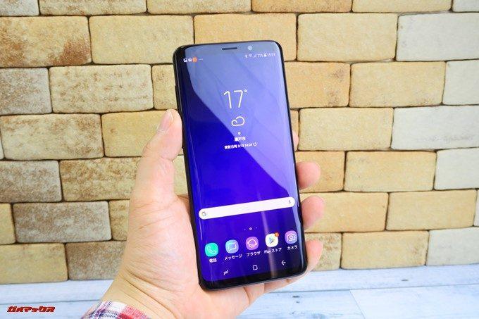 Galaxy S9 seriesは縦長ディスプレイで大画面でも持ちやすい