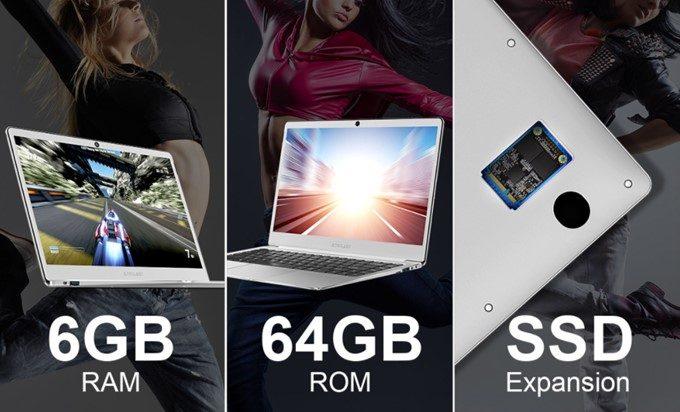 Teclast F7の64GBモデルもSSDを拡張出来るスロットを搭載しています。