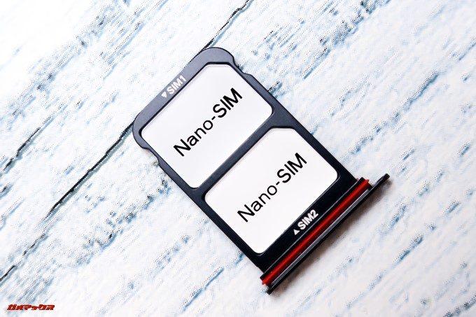HUAWEI P20 Pro/P20のSIMトレイはNanoSIMのみでMicroSDは入らない