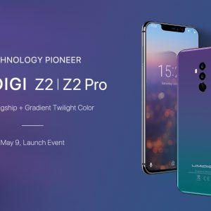 UMIDIGI Z2/Z2 Pro発表。切り欠け・フルバンド対応・グラデボディーのフラッグシップ機