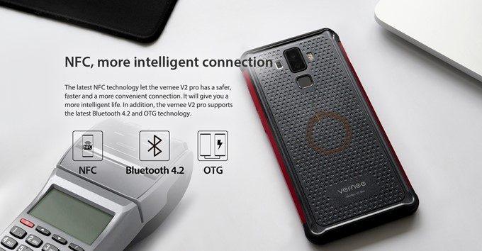Vernee V2 Proは便利な機能も満載。NFCもOTGも全対応しています。