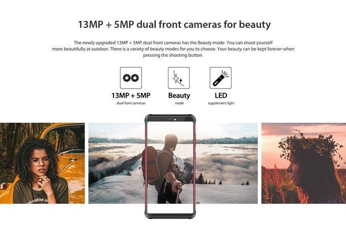 Vernee V2 Proはインカメラも高画素カメラを搭載しているので美しい写真を撮影可能です。