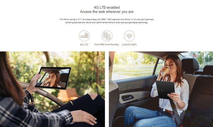 CHUWI Hi 9 AirはSIMスロットを搭載しているのでSIMを挿入するといつでもタブレット単体で通信が可能です。
