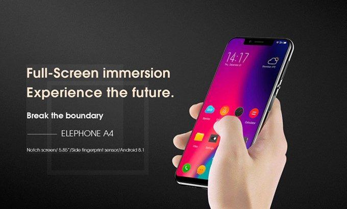 Elephone A4は切り欠け×18:9のトレンドディスプレイを採用