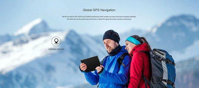 CHUWI Hi 9 AirはGPU+GLONASSを搭載しているので徒歩ナビやカーナビとして利用可能です。