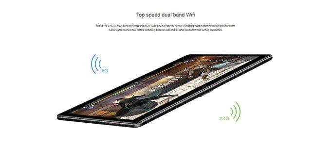 CHUWI Hi 9 Airは混線しにくいデュアルバンドWi-Fiを搭載しています。