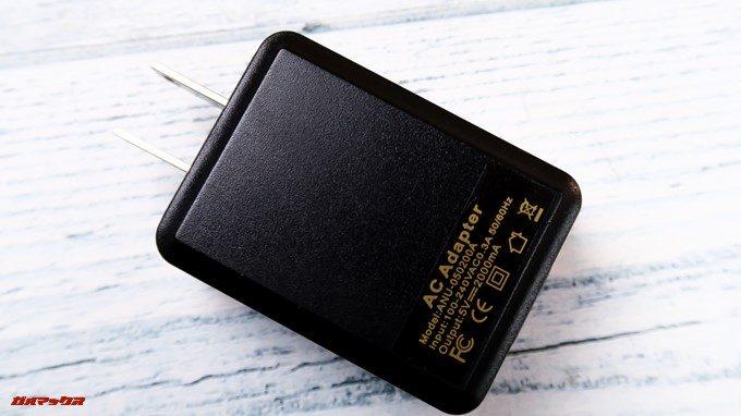 CHUWI Hi8 Airの充電器は5V2Aに対応している急速充電器が付属していました。