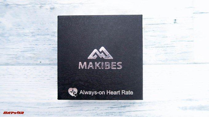 Makibes HR3はブラックのかっこいい箱に入っています。