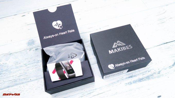 Makibes HR3の同梱物は本体と取扱説明書のみです。