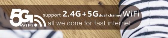 VOYO i8 MaxのWi-Fiは2.4GHzだけでなく5GHzのバンドにも対応しています