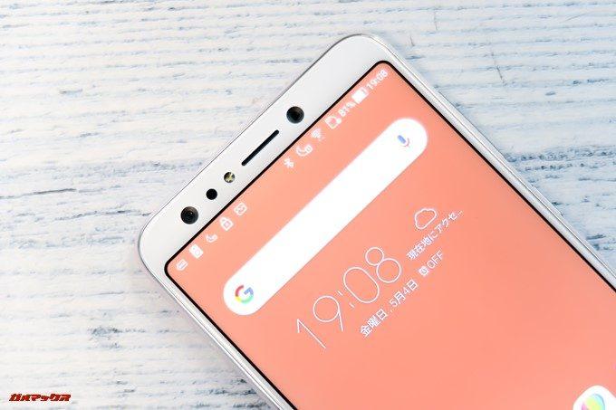 ZenFone 5Q/lite/Selfie(ZC600KL)はダブルレンズカメラをイン側にも備えます。