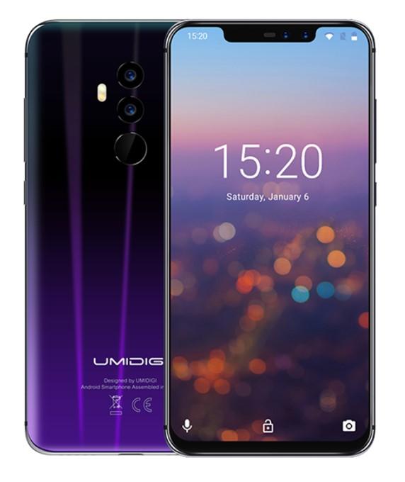 UMIDIGI Z2のTwilight blackは光の当たり具合でblackと紫のカラーが切り替わります