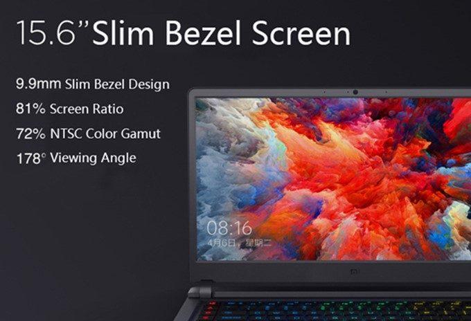 Xiaomi Mi Gamingは非常に薄いベゼルを搭載しているので、大画面の割日コンパクトです。
