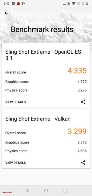 3DMarkはOpenGL ES 3.1は4335点、Vulkanは3299点でした!